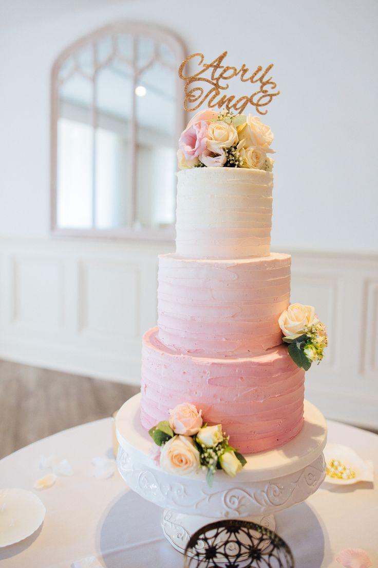 Ombre Buttercreme Hochzeitstorte   – 16th Birthday