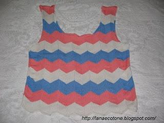 Lana e Cotone (maglia e uncinetto): Top a righe