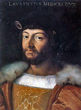 Portrait par Raphaël. Laurent II de Médicis (1492-1519) père de Catherine de Médicis.