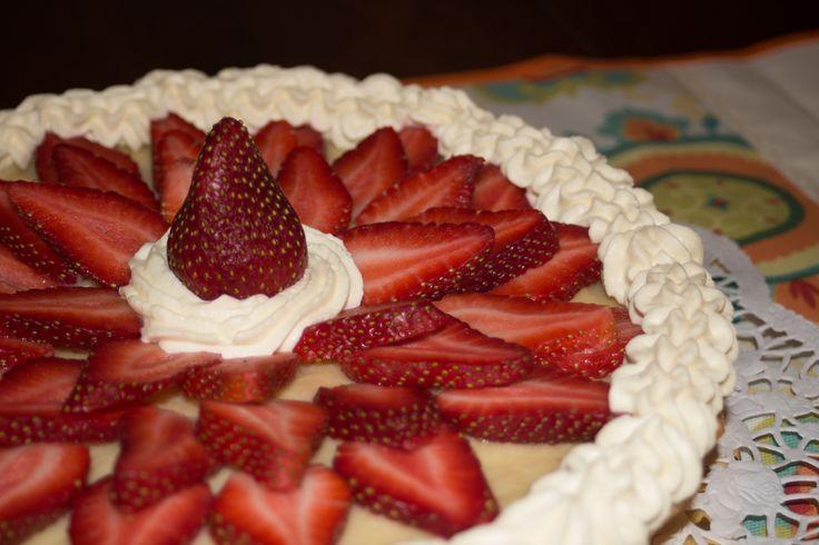 Rosaura Strawberry... Tarta con crema pastelera y frutillas