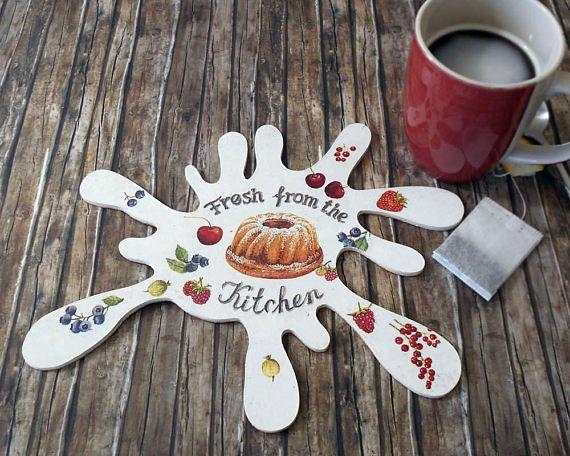 Kitchen Decor  Rustic Coaster  Coffee Table Coaster  Tea