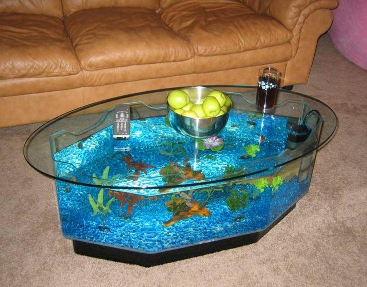 1000 idées sur le thème Fish Tank Coffee Table sur Pinterest  Tables basses, -> Aquarium En Forme De Table Basse