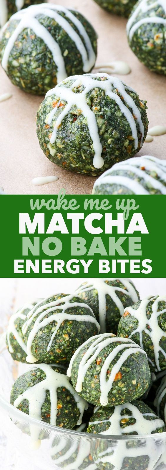 Matcha No Bake Energy Bites {gluten, dairy, egg, peanut, soy & refined sugar free, vegan, paleo} - These matcha no bake energy bites make the perfect morning snack, as well as a pre workout or post workout treat. The matcha powder gives a gentle caffeine kick, while the rest of the ingredients provide a nice balance of carbs, protein and healthy fats, as well as vitamins and minerals. Gluten, dairy and refined sugar free, as well as vegan and paleo.