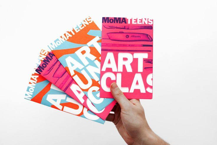 Project: MoMA Teens Mailers  Project Team: Julia Hoffmann (creative direction), August Heffner (art direction), Jesse Reed (design), Althea Penza (production)