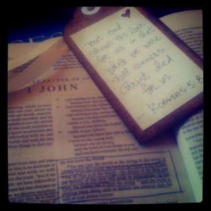my bible & bookmark from the women's retreat :)
