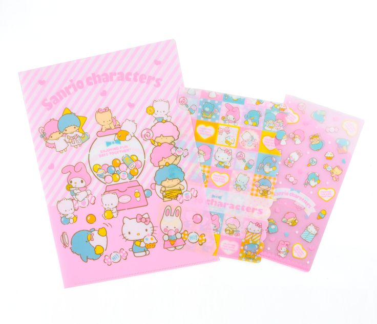 Sanrio Characters Clear File 3pc Set: 80's
