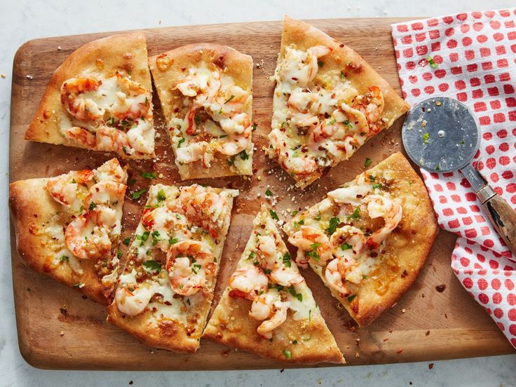 Shrimp Scampi Pizza recipe from Food Network Kitchen via Food Network