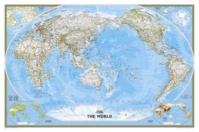 Världskartor - Affisch på AllPosters.se