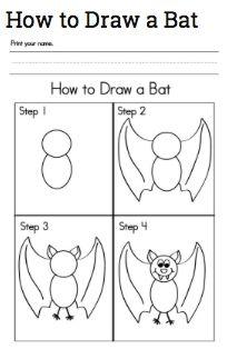 My kiddos love directed drawings! Love this bat! http://www.sightwordsgame.com/halloween/halloween-activities-bat/