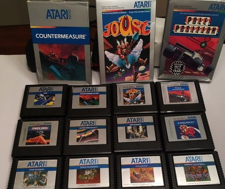 Atari 5200 Lot of 18 Video Game Cartridges Tested Working Some Boxes and Manuals