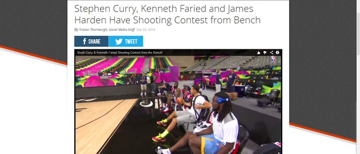 Stephen Curry, Kenneth Faried and James Harden Have Shooting Contest from Bench.