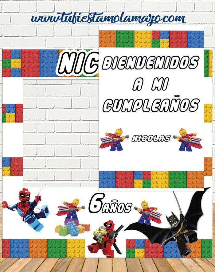 Photocall Infantil De Lego Tu Fiesta Mola Mazo En 2020