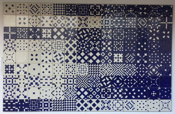 Modern azulejos at Museum do Azulejo in Lisboa.  http://www.museudoazulejo.pt/
