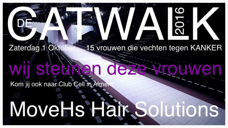 De Catwalk. Een event in samenwerking met het Parkhuys Almere.   Vandaag is het zover. Het team van MoveHs Hair Solutions zal 15 vrouwen die vechten tegen kanker ondersteunen. Zij gaan vandaag de catwalk op om te mogen schitteren. Elk jaar weer één van de mooiste events om te doen. Aan mijn team.....Ik ben nu al trots op jullie voor alle medewerking. We gaan deze vrouwen in het zonnetje zetten. Go for it girls! 😘 Dave