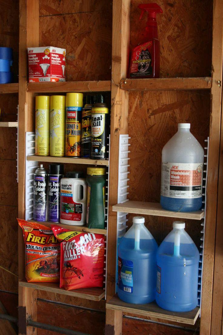 Ezstud Racks For Multiple Uses Between Wall Studs Storage Shed Organizationwork Organizationtool Organizingshed