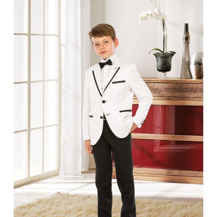 554-3 Tugi Erkek Çocuk Takım Elbise Smokin  Beyaz