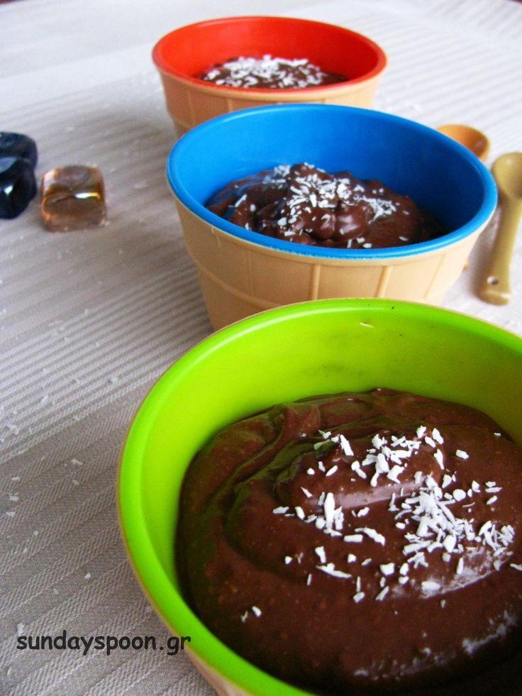 Μους σοκολάτα καρύδα (νηστίσιμη και vegan) • sundayspoon