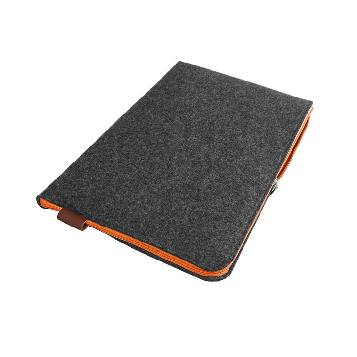 MACBOOK SLEEVE 02 dark gray felt laptop cover with orange zipper all sizes avaliable hand made to order for your laptop by PurolDesignBags on Etsy #laptopsleeve #sleeve #felt #laptop #macbook #darkgray #orange #zipper