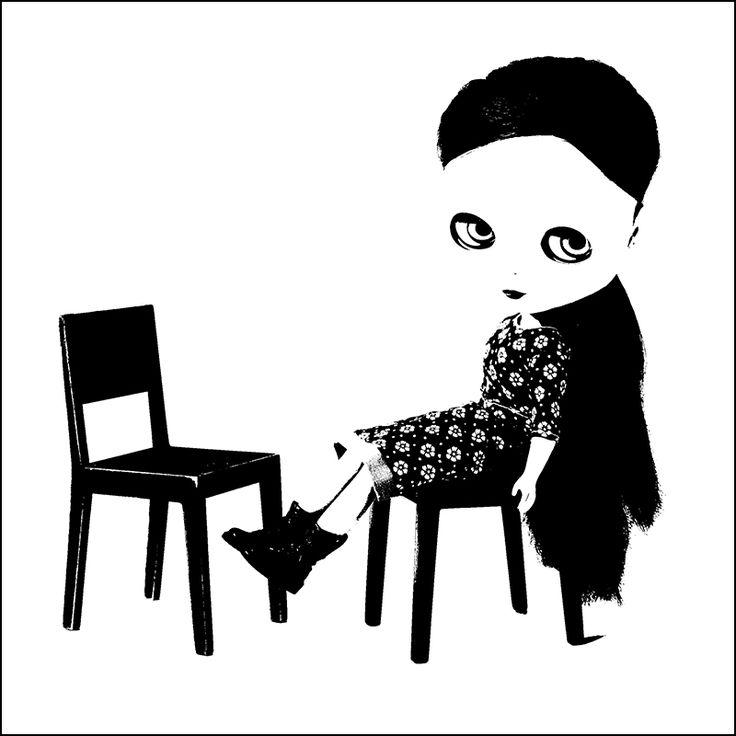 MINIMAGINE * furniture for dolls: black and white #blythe #blythedoll