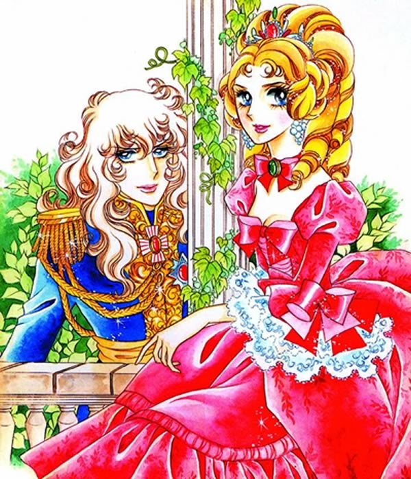 The Rose of Versailles by Riyoko Ikeda. A phenomenon of my age. Lady Oscar (left) and Marie Antoinette. Reading this comics teaches you about French Revolution a lot.