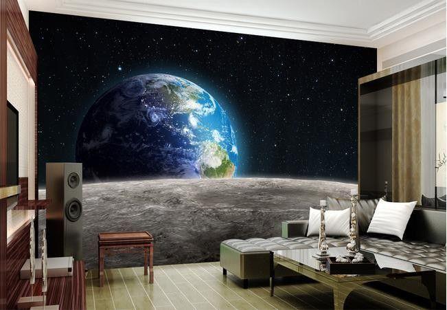 Aliexpress.com: Compre Papel de parede 3D Star Universe planeta papel de parede mural adesivos de parede papel de parede papel de parede wallpapers20153033 de confiança Papéis de parede fornecedores em Wallpaper CO.,LTD.
