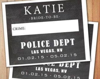 Bachelorette Party Signs Custom Mugshot by BacheloretteandBride