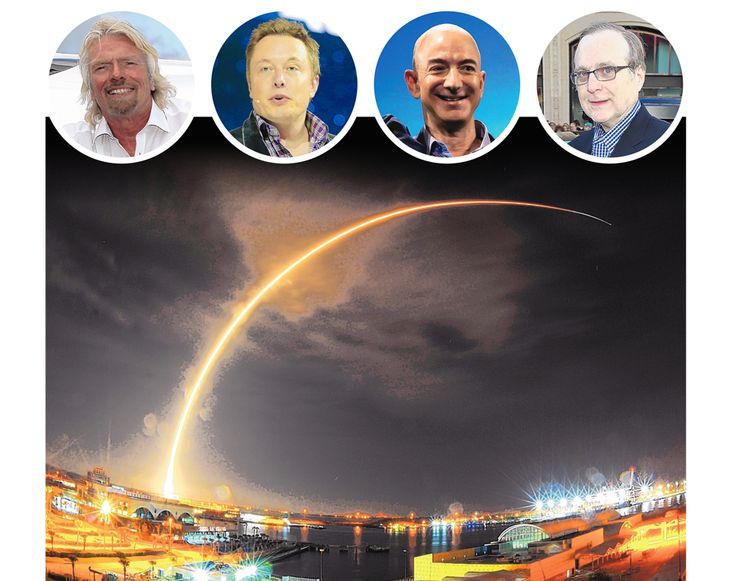 Richard Branson, Elon Musk, Jeff Bezos and Paul Allen in race to open up space…