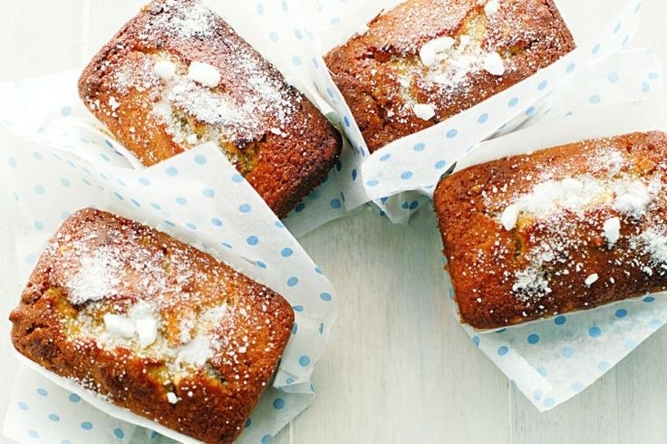 Gluten be gone! Gluten-free fruit and nut loaves with sugar topping