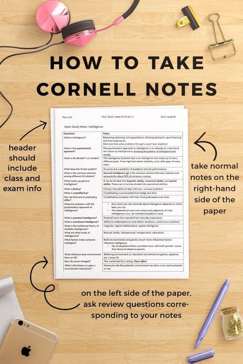 12 best cornell notes images on pinterest