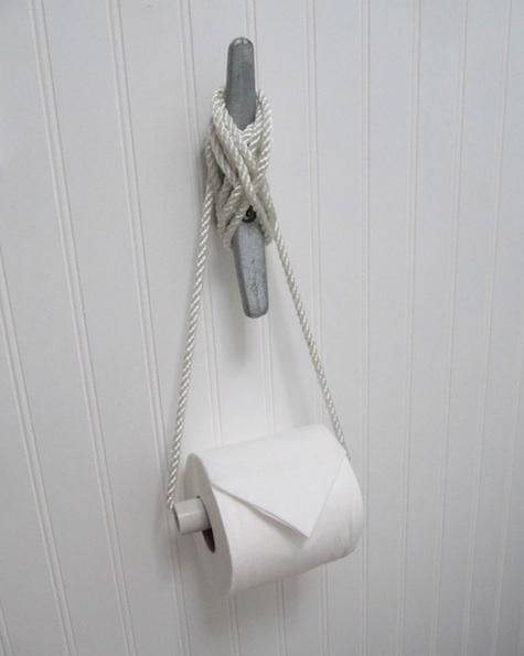 DIY Toilet paper holder~ Might have to make this if I can't find an adhesive one for our trailer!!