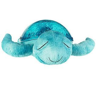 Help soothe a little one to sleep with Tranquil Turtle. This cute plush toy has a night-light, calming sounds, and it comes with a story book! #QVCgifts