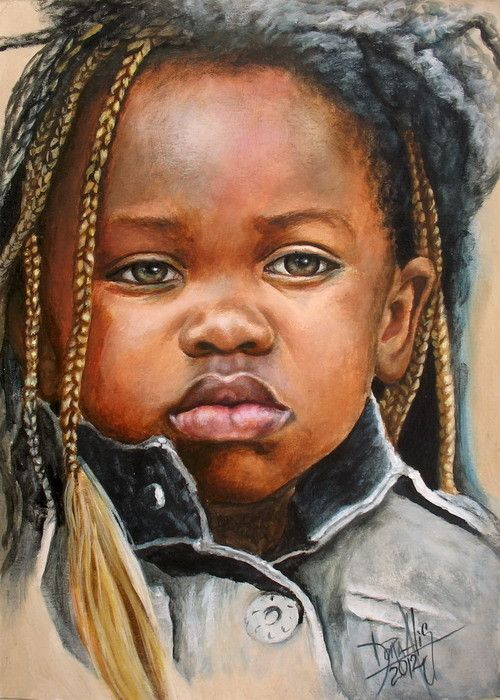 African Children Paintings By Dora Alis