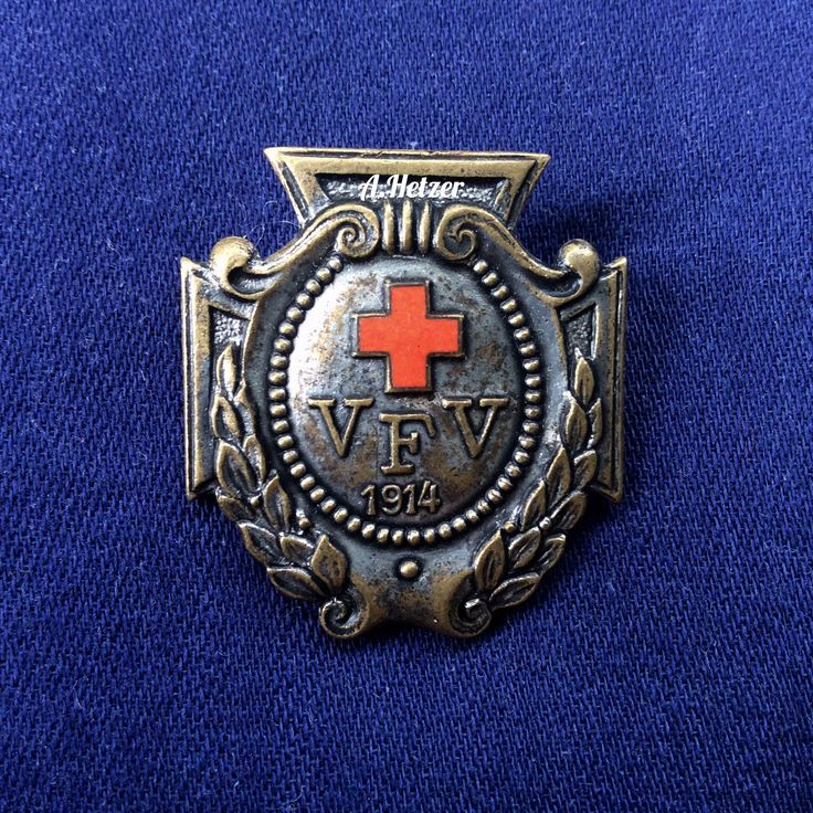 Deutsches Rotes Kreuz Vaterlandischer Frauen-Verein 1914, A. STÜBBE BERLIN-C #фалеристика #faleristics #ww1 #wk1 #drk #helferin #schwesternschaft