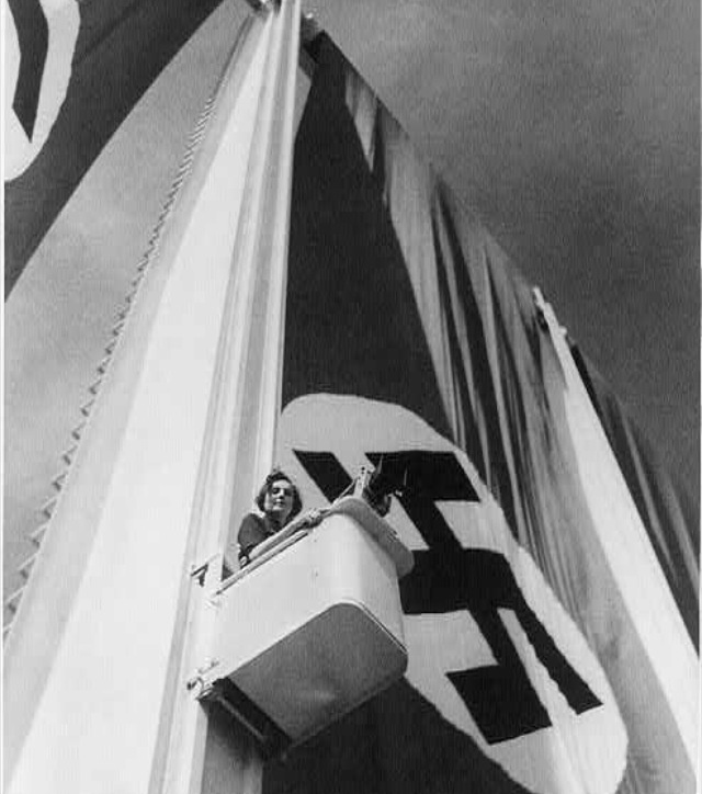 """Leni Riefenstahl filming for """"Triumph of the Will"""""""