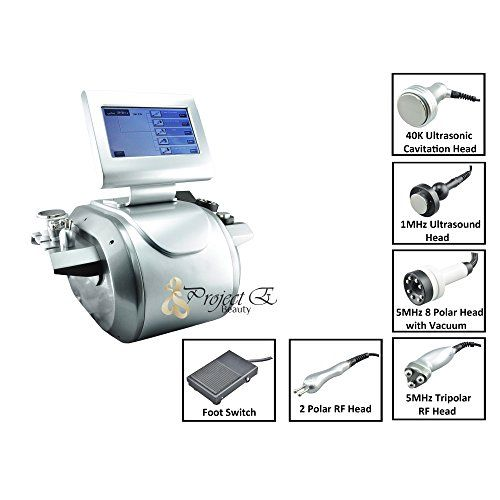 Project E Beauty Cavitation Tripolar Multipolar Bipolar Radio Frequency Vacuum Ru5beco Machine  Silver  263x244x20 * To view further for this item, visit the image link. (This is an affiliate link and I receive a commission for the sales) #BeautySalonEquipment