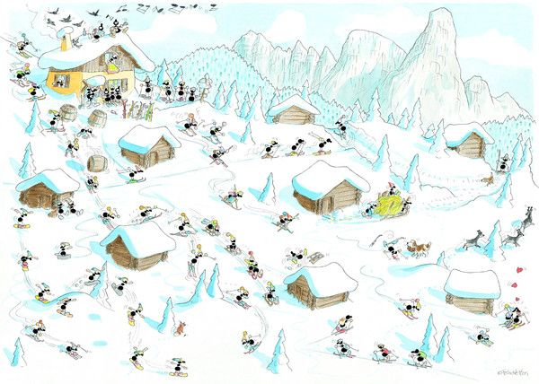 """Puzzle """"Sport invernali"""". #formiche #puzzle #sport #inverno #montagna #neve #winter #snow"""