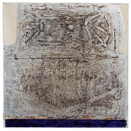 Ahti Lavonen: Hopeinen, 1967, öljy kankaalle, 80x80 cm - Bukowskis