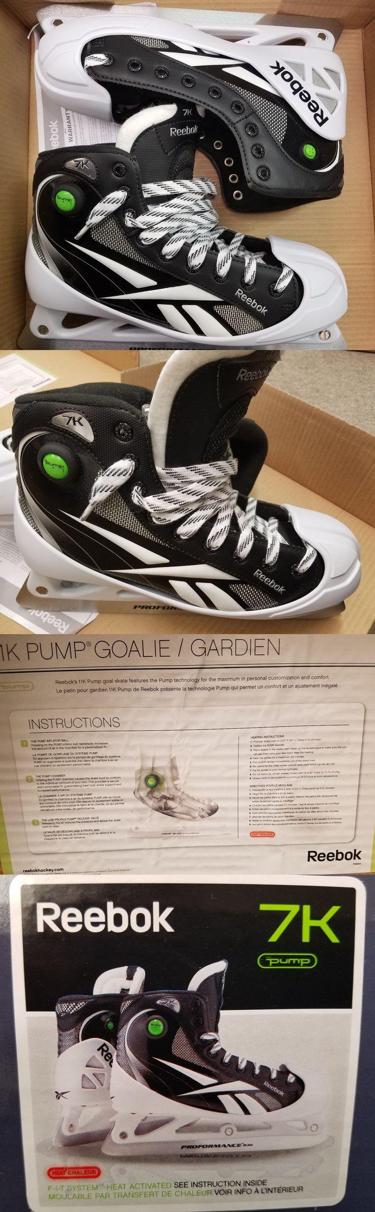 Ice Hockey-Youth 26342: Reebok 7K Goalie Skates Sr Size Us 9.5 -> BUY IT NOW ONLY: $149 on eBay!