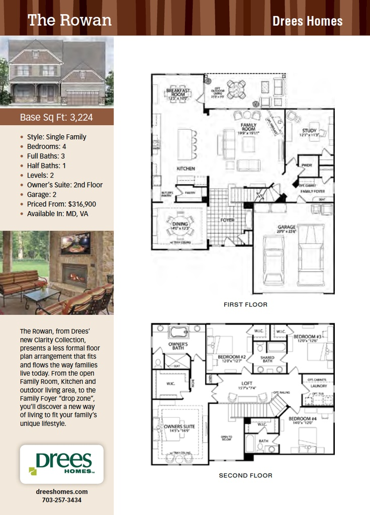 the rowan, drees homes, new homes guide | future home ideas