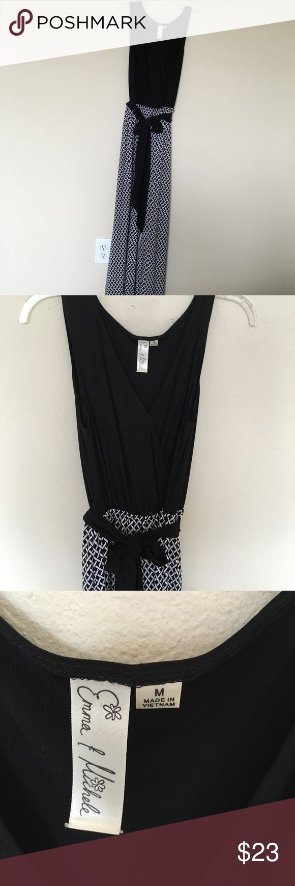 Black and White Jumpsuit It is nice, super comfortable Jumpsuit, great condition! Emma & Michele Other