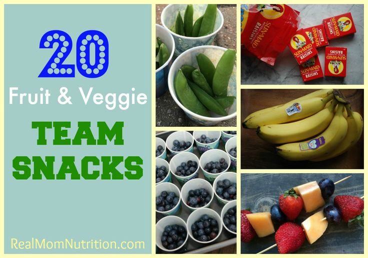 Bring healthy team snacks to your child's next game. Here are 20 ideas.