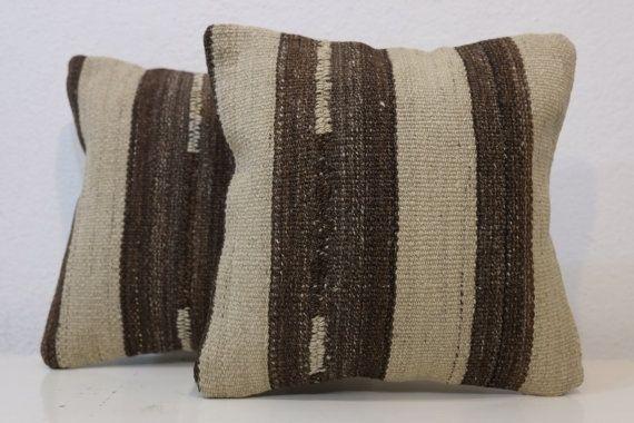 Organic woolWhite & blackMonogrammed PillowMonogram by kilimci