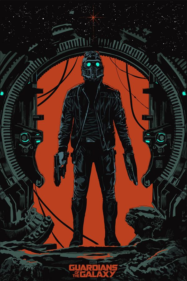 Mondo Poster for GUARDIANS OF THE GALAXY with Star-Lord -  Francesco Francavilla