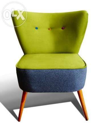 Fotel klubowy, uszak, lata 60,70, PRL, design, art deco Poznań - image 1