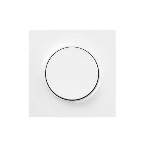 Round single and split switches. Dimmers in all living spaces. plaque schneider electric odace styl - 1 poste - blanc