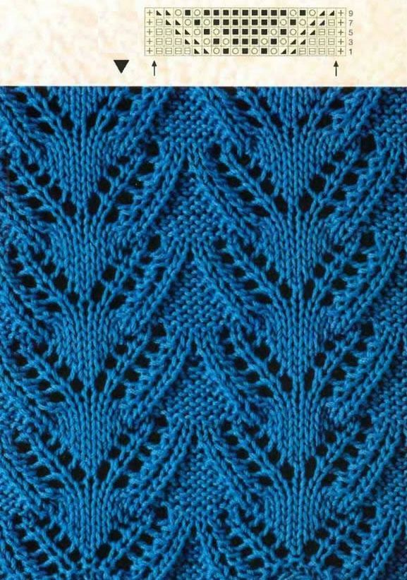 Leaf Pattern Knitting Pattern : 17 Best images about Leaf lace stitch knitting patterns on ...
