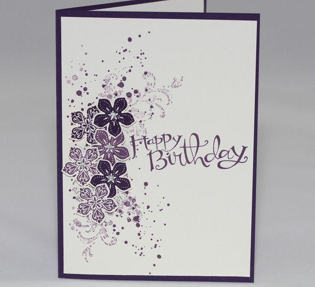 Geburtstagskarte - Sassy Salutations - Petite Petals - Gorgeous Grunge - Timeless Textures - von Aelidan auf Dawanda