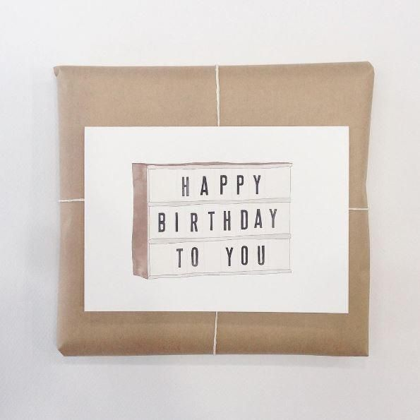 Light Box Greeting Card. Australian made stationery by In the Daylight.