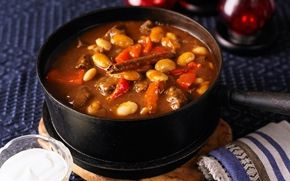 Het köttgryta med paprika och vita bönor - Recept - Arla