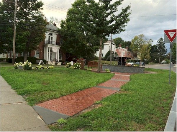 """The town square in North Bennington that may have inspired square in """"The Lottery."""""""
